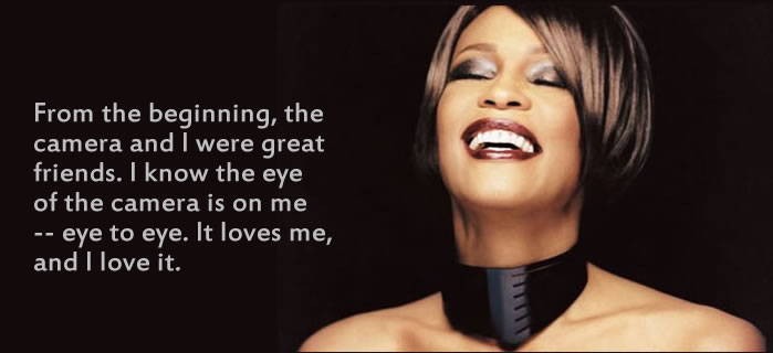 whitney houston singing quotes