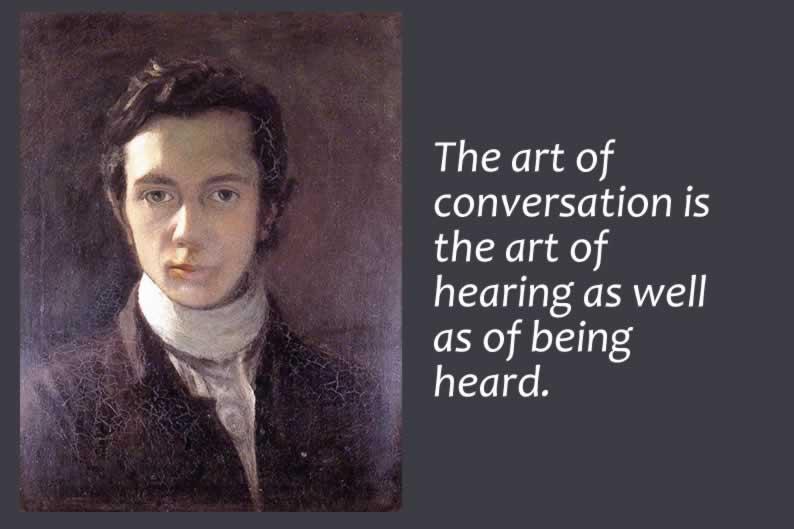 Hazlitt quotes on conversation