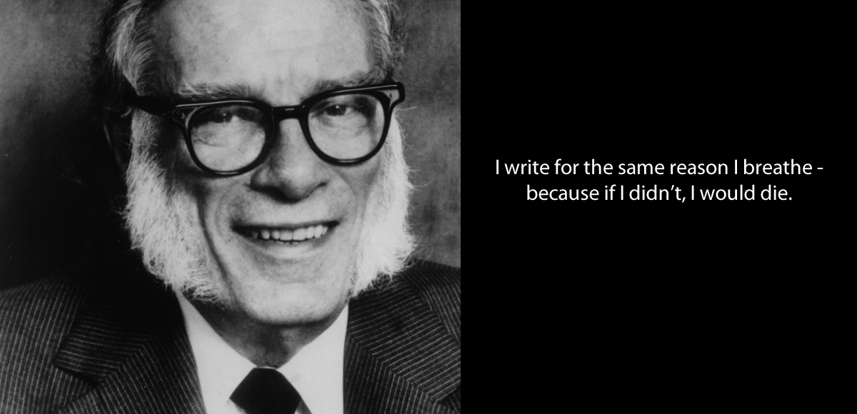 Asimov quote on writing