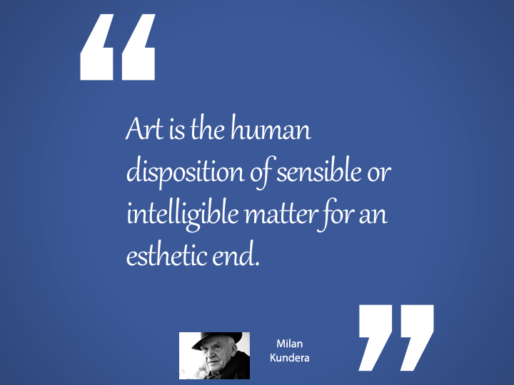 Art is the human - Kundera Quote