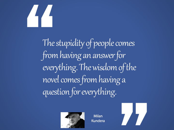 The Stupidity of people - Milan Kundera quote