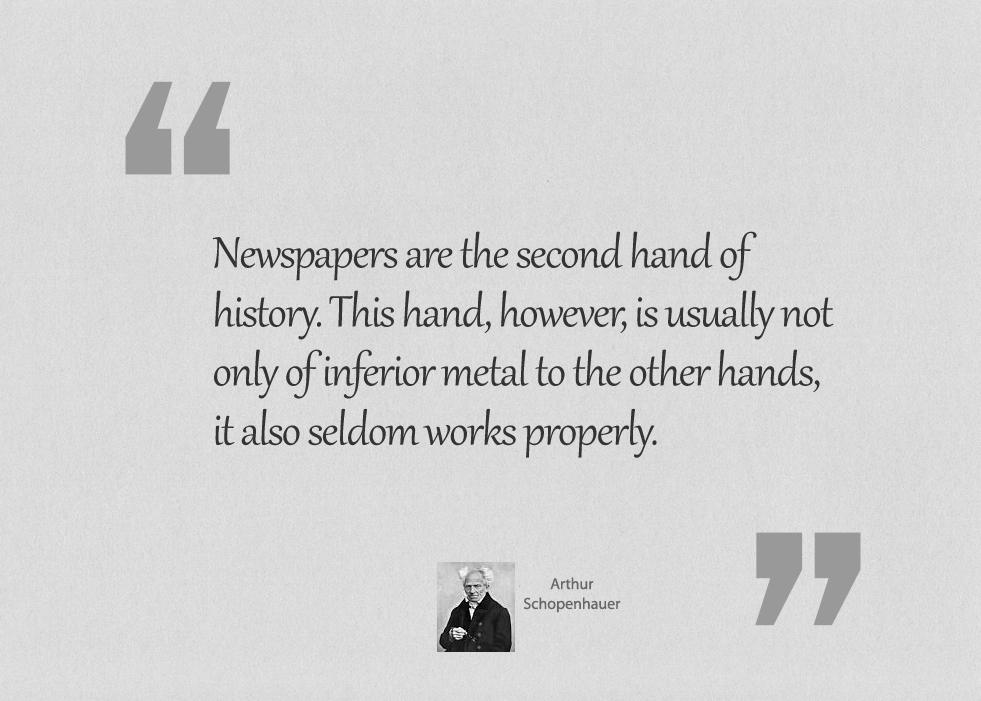 Newspapers are the second hand of history.