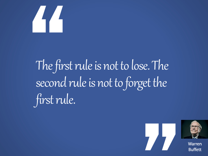 The first rule is not to lose