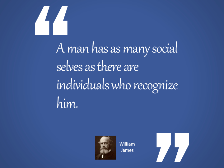 A man has as many social selves